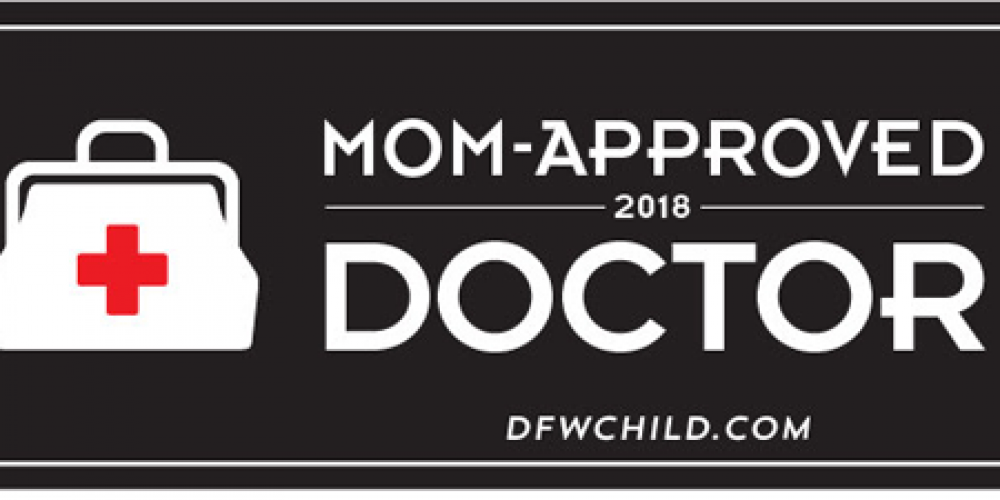 Drs. Heintges and Sigman Awarded DFW Child's 2017 Mom-Approved Doctor Award