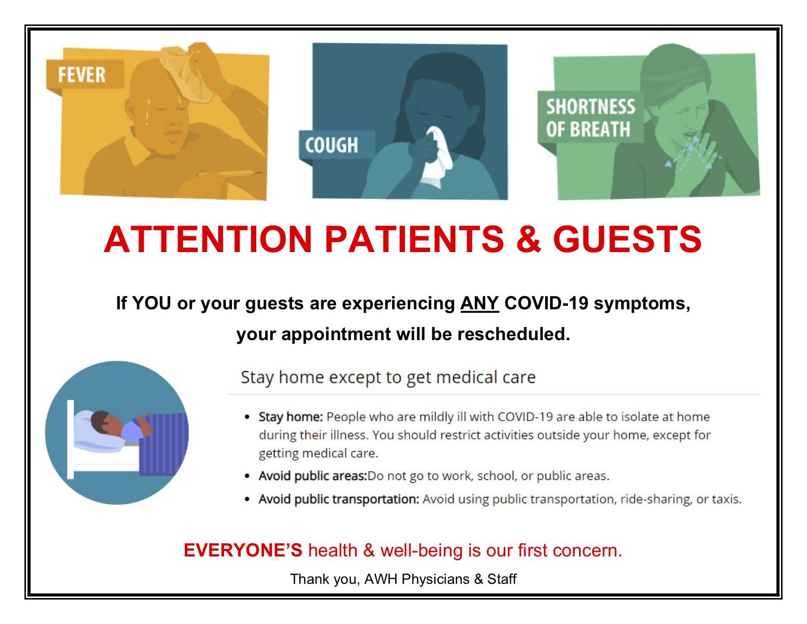 coronavirus update, dallas obgyn, advanced women's healthcare, news,